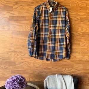 Gap Men's Plaid Button Up Shirt L Long Sleeve